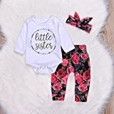 GSHOOTS Baby Girls' 3 Pieces 'Little
