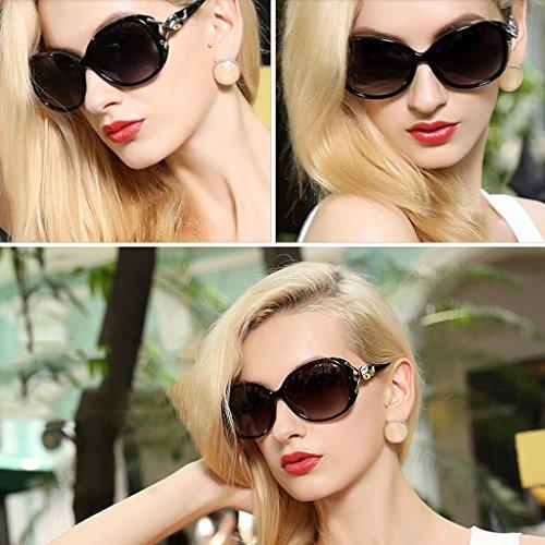 retro la Box pueden de Personality WLHW gafas equipar femeninas se Las marea Polaroid las sol UV400 moda miopía la sol personas Resin Color de Gafas de de de black Bright Gafas de la Marrón BSqwSY67