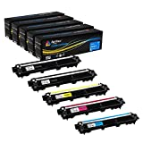#5: Arthur Imaging Compatible Toner Cartridge Replacement for Brother TN221 TN225 (2 Black, 1 Cyan, 1 Yellow, 1 Magenta, 5-Pack)