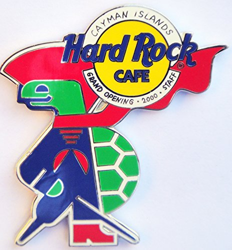 2000 Grand Opening Staff Pin Hard Rock Cafe Cayman -