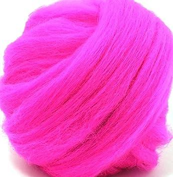 Super Soft, Luxurious, Merino Wool Roving for Spinning and Felting 1 Ounce (White) GoatsMagosh