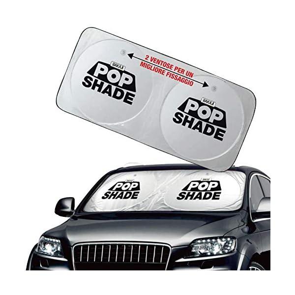 BAKAJI Parasole Parabrezza Anteriore Interno Auto Pop-Up Tendina Protezione Cruscotto Pieghevole Universale con Ventose… 1 spesavip