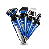 Electric Shaver for Men Rotary Shavers Cordless Razor Rechargeable Waterproof Wet Dry Using Beard Mustache Trimmer with Facial Brush and Nose Hair Timmer Best gift for Men (Whole Set)