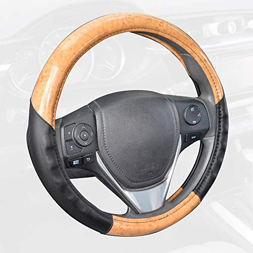 (BDK Compatible with ACDelco Steering Wheel Cover (2Tone - Light Maple Wood))