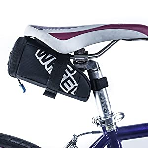 Allnice Bicycle Seat Bag Cycling Bike Saddle Bag with Hard Drawer Bicycle Seat Pack Tail Pouch for Mountain Road MTB Bicycle Bike