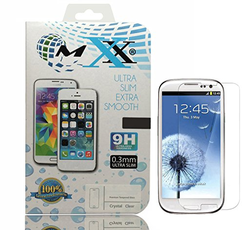 MXX Galaxy S3 Mini Screen Protector, Premium Explosion-Proof Screen Protector Tempered Glass for Samsung Galaxy S3 Mini - HD Glass (Pack of 2) (Samsung Mini S3 Screen Protector)