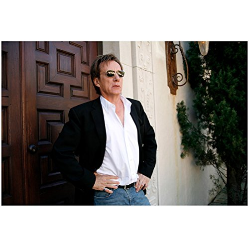 Entourage 8 inch x 10 inch PHOTOGRAPH Phil Black Blazer White Dress Shirt Jeans Sunglasses Standing in Front of Door to House Mid - Sunglasses Blazer
