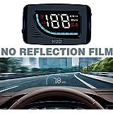 Car HUD Head Up Display 3inch Windshield Projector OBD II/EUOBD Interface Plug & Play Speedometers Engine Speed Auto Electronics Accessories