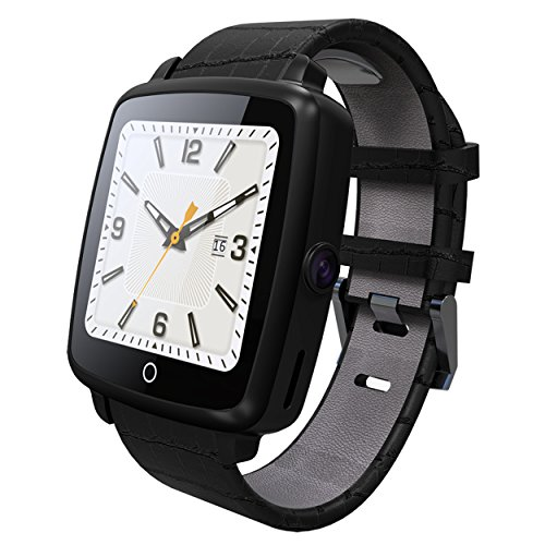 FociPow Smartwatch, Bluetooth Smart Watch Pedometer Camera Notification Sync Compatible with Android and IOS, Touch Screen Wristwatch Fit for Men Women Kids (Black) ()