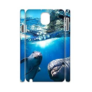 DDOUGS Dolphins Brand New Cell Phone Case for Samsung galaxy Note 3 N9000, DIY Samsung galaxy Note 3 N9000 Case