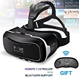 3D VR Headset, Yove 3D Virtual Reality Headset with Adjustable Lens and Strap for iPhone 7 6 6s 5 5s 6splus Samsung S3 Edge Note 4 and 3. 5-5. 5 inch Smartphone for 3D adult Movies and 3D Games