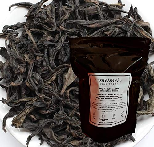 (MeiMei Fine Teas Wuyi Rock Oolong Da Hong Pao Rare Orchid Qi Lan - Premium Oolong Tea Big Red Robe Fruity and Floral Medium Roasting 50 grams)