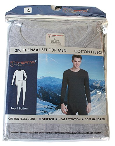 therma-tek-formerly-comfort-fit-mens-winter-thermal-cotton-fleece-top-bottom-2-pcs-set-light-gray-l