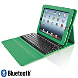 Bluetooth Keyboard with Tech-Grip Case for iPad Tablets