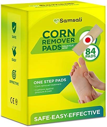 Corn Remover, 84 Corn Remover Pads, Toe Corn and Callus Removal, Corn Treatment Pads, Best Corn Remover Pads for Foot Corn Removal, 84 Pads