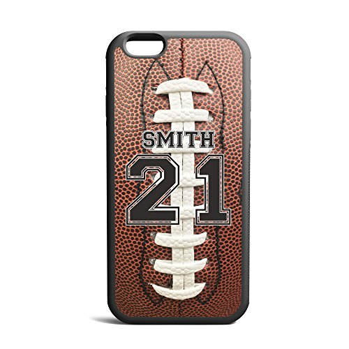 CodeiCases iPhone 6 Plus/6s Plus Football Case With Custom Name And Number, Football Custom Case, Cover Rubber Black Football iPhone Case