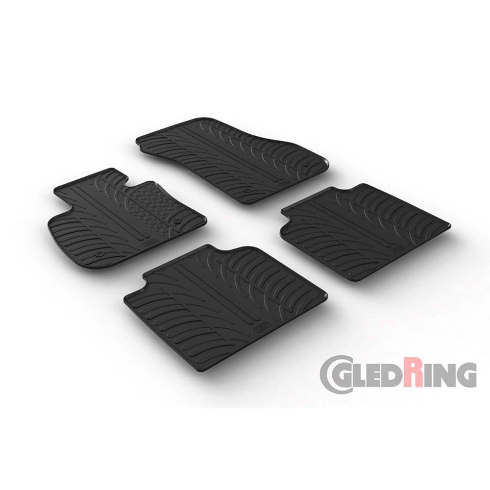 Gledring 0693 Set Tapis de Caoutchouc, Black