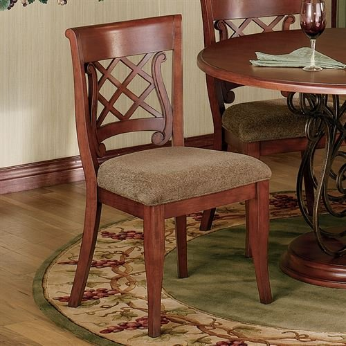 Hillsdale Furniture Delancey Eldridge Wood Chair Pair Classic Cherry Set of Two
