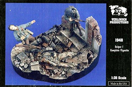 Price comparison product image Verlinden Productions 1:35 Sniper! Complete Vignette - 2 Resin Figures Kit 1948
