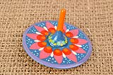 Handmade Wooden Spinning Top Toy With Traditional Petrikivka Painting For Kids