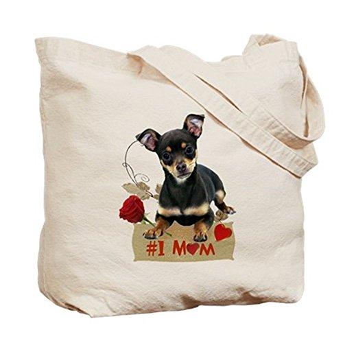 CafePress–Chihuahua (# 1Mamá)–Gamuza de bolsa de lona bolsa, bolsa de la compra