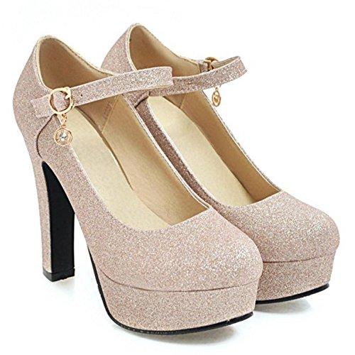 Talons Chaussures Cheville Coolcept à Bride Femmes Or Escarpins wp6qwI8R