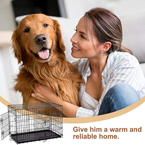 BestPet 42'' Pet Folding Dog Cat Crate Cage Kennel w/ABS Tray LC by BestPet (Image #5)