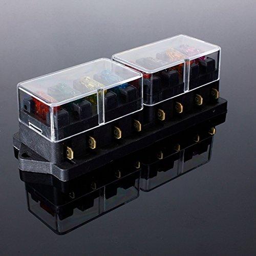 12V Universal Motor 8 Way Circuit Standard Blade Fuse Box Holder