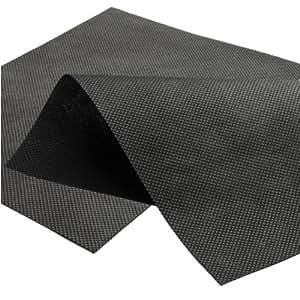 390M² tessuto-non-tessuto de jardín 1,95m x 200,00M–50g/m² Toalla para mantillo–Negro