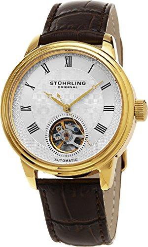 Stuhrling Original Men's 780.03 Legacy Analog Display Automatic Self Wind Brown Watch