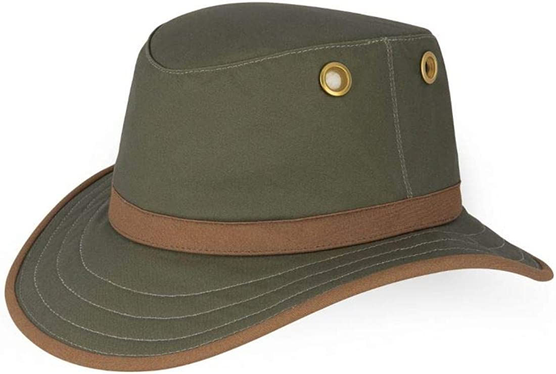 The Outback Wax Cotton Green//British Tan 7 5//8