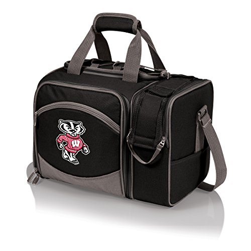 - NCAA Wisconsin Badgers Malibu Picnic Tote with Deluxe Picnic Service for Two