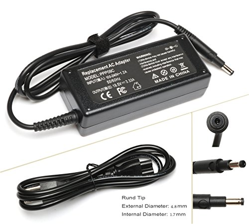 19.5V 3.33A 65W AC Adapter Laptop Charger for HP Pavilion Touchsmart 14-b109wm 14-b124us 14-b150us Sleekbook 15-b129wm 15-b150us 15-b153cl; Hp-Envy-Spectre Xt Pro 13 14 15 Supply Power Cord