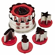 Cake Boss 59750 Steel Cookie Cutters-Holiday Linzer Set, Silver