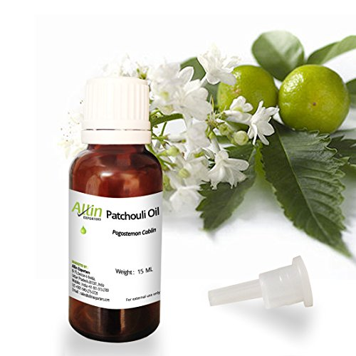 Allin Exporters Patchouli Oil – 100% Pure , Natural & Undiluted – Used in Aromatherapy Diffuser, additive Fragrance for Perfume or Musk, Candle, Insect Repellant, Natural Deodorant