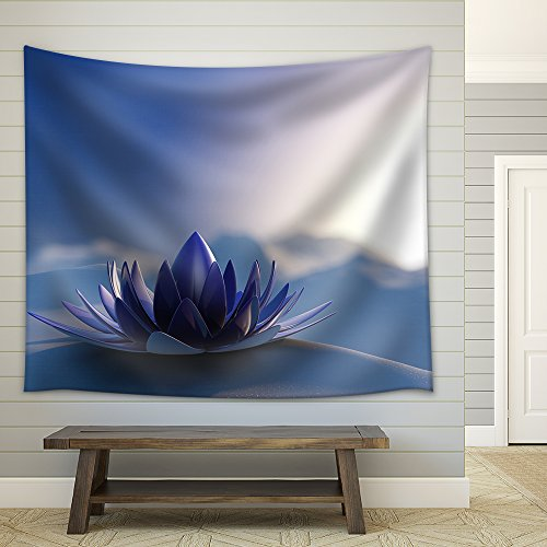 Winter Zen Flower Fabric Wall