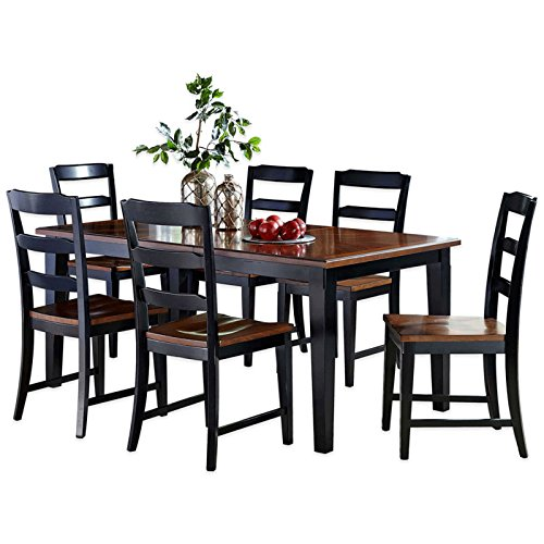 7-Piece Dining Set in Black/Cherry