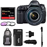 Canon EOS 5D Mark IV Camera Full Frame Digital SLR Camera EF 24-105mm f/4L IS II USM Lens with 64GB Compact Flash Card, Photography Backpack, Monopod, Filters and Double Battery Deluxe Bundle