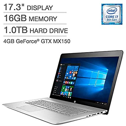 Amazon.com: HP ENVY 17t Laptop - Intel Core i7 - 4GB NVIDIA Graphics - 16GB RAM, 1TB HD - Windows 10: Computers & Accessories
