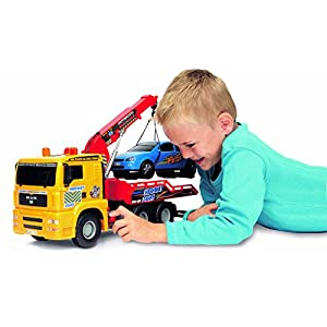 """Dickie Toys 21"""" Air Pump Action Tow Truck Vehicle"""