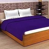 Story@Home Super Soft Plain Polar Fleece Double Blanket - Purple