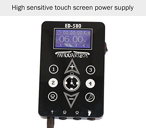 Black New Black Duty Digital LCD Tattoo Power Supply For Machine Gun Device tattoo & body - Box Power Supply Gun Tattoo