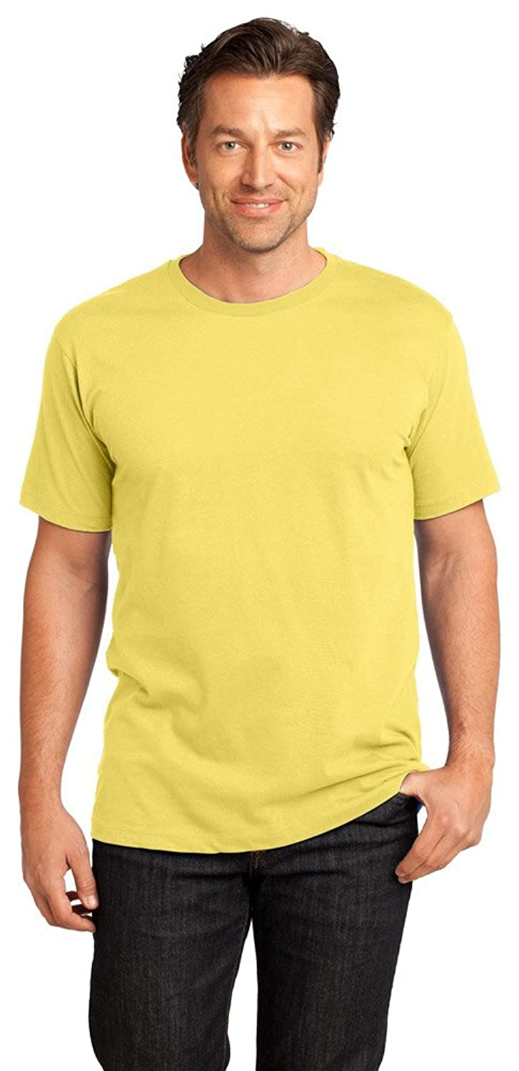 District Made Mens Perfect Weight Crew Tee, 2XL, Yellow