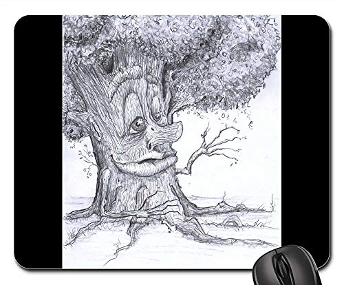 Mouse Pad - Tree Creepy Scary Halloween Haunted Fantasy]()