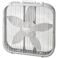 20inch Box Fan with Metal Frame, White by Lasko