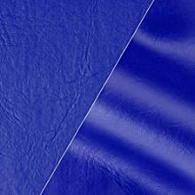 "VViViD Blue Weatherproof Faux Leather Finish Marine Vinyl Fabric (25ft x 54"")"