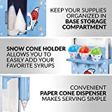 Nostalgia 54-Inch Tall Snow Cone Cart, Metal Scoop