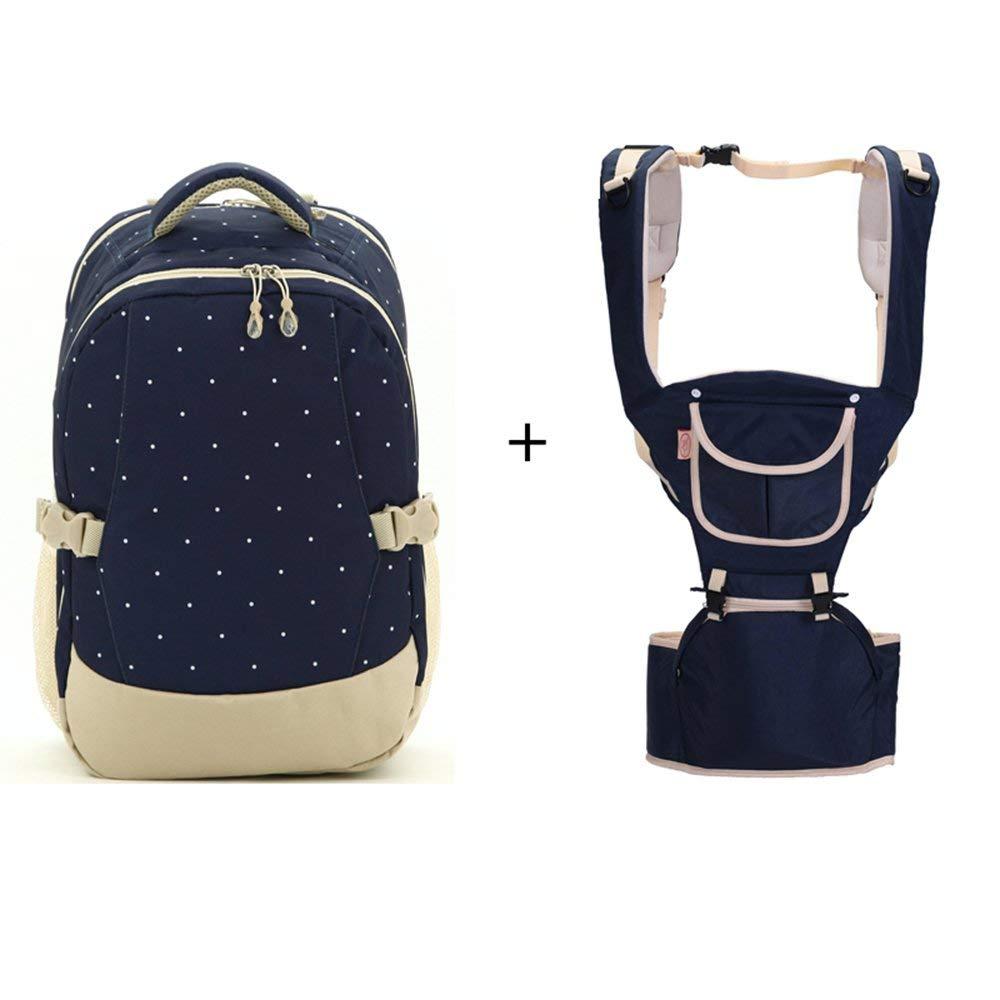 Pureed Multifunktionale Schultern Aus Dem Paket Mutter Paket Mode Mutter Tasche Mutter Baby Tasche (Farbe   Blau) (Farbe   DarkBlau+Khaki, Größe   One Größe)