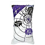 Amscan Halloween Stretchable White Polyester Spiderweb | 2-Pack, 800 Sq Ft | Great for Party and Horror House Decoration