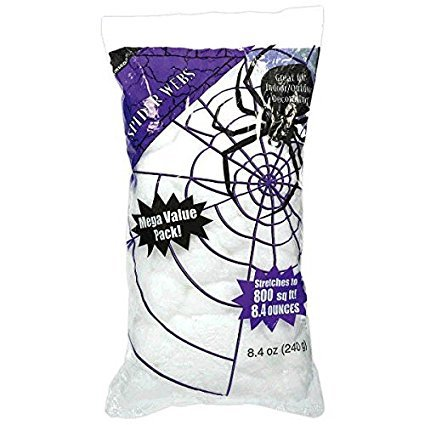 Amscan Halloween Stretchable White Polyester Spiderweb | 2-Pack,